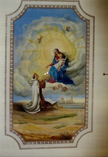Peinture du plafond de la nef
