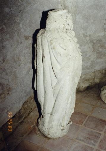 Ensemble de 2 statues : Annonciation