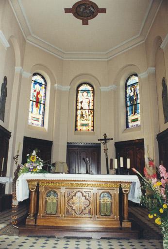 Le mobilier de l'église catholique Saint-Georges