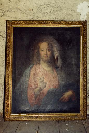 2 tableaux : Christ bénissant, Vierge