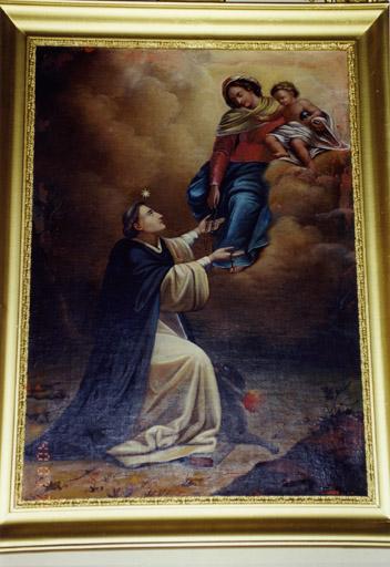 2 tableaux : Saint Joseph, saint Dominique