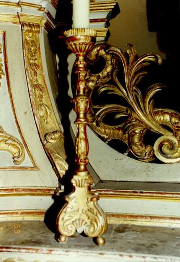 4 chandeliers d'autel