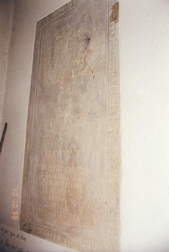Dalle funéraire, de Christian Eberhard de Berckheim