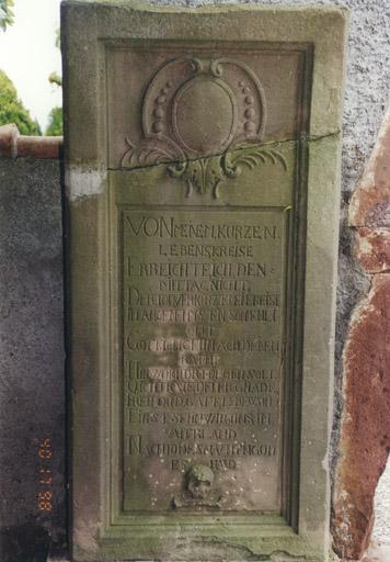 Monument funéraire de Jean Georges d'Edighoffen