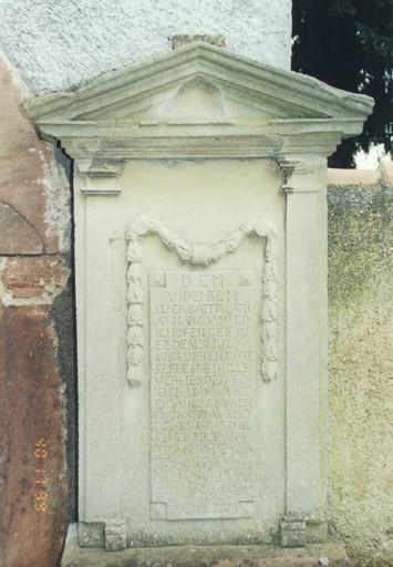 Monument funéraire de Catharine Marguerite d'Edighoffen