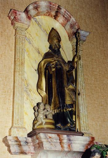 ensemble de 2 statues : saint Nicolas de Bari, Vierge à l'Enfant