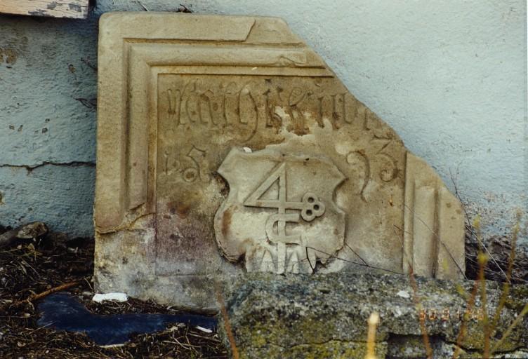 Plaque funéraire de Mathias Kuntz