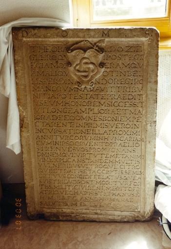 Plaque commémorative de Theobald Ziegler