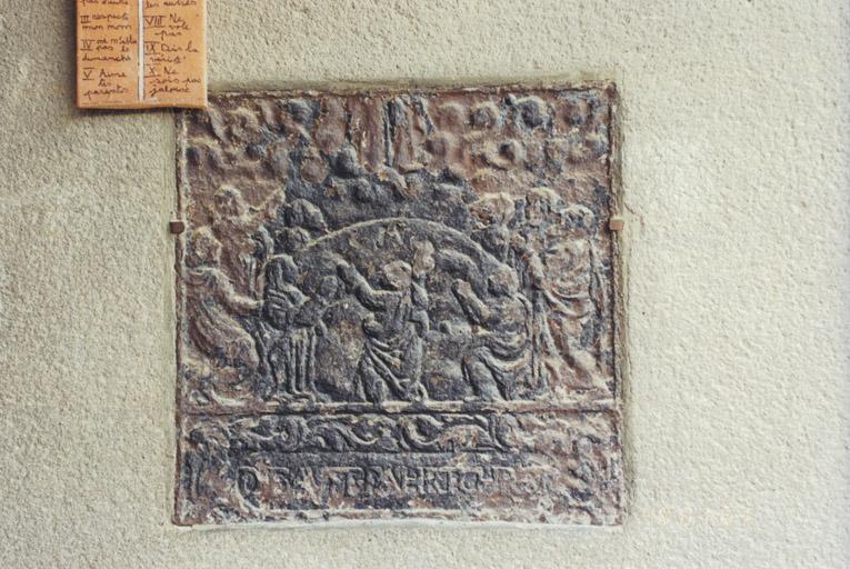 plaque de poêle : la Résurrection (No 2)