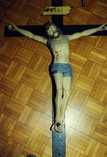 Croix de procession : Christ en croix (No 1)