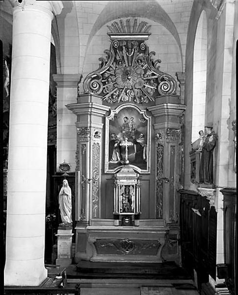 2 autels, 2 retables (autels secondaires)