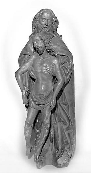 Groupe sculpté : la Trinité dite Dieu de Pitié