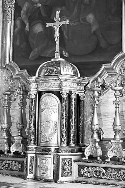 Tabernacle et 6 chandeliers d'autel