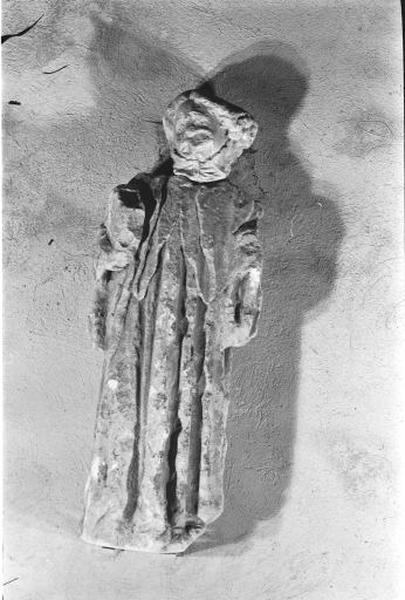 Statue : saint (?) bénédictin