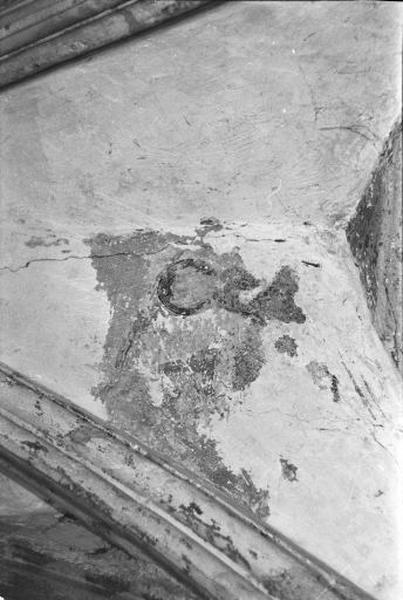 Peinture monumentale : les Evangélistes écrivant accompagnés de leurs animaux symboliques.