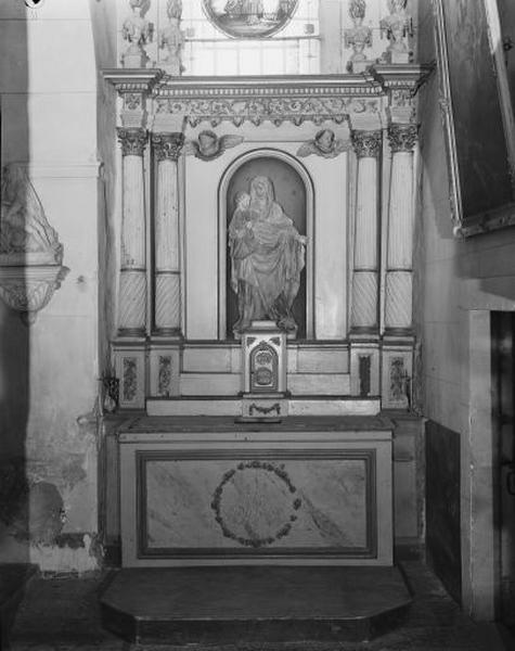 autel, retable, tabernacle (autel secondaire sud)