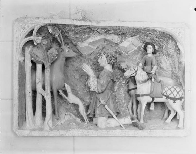 Haut-relief : la Chasse de saint Hubert