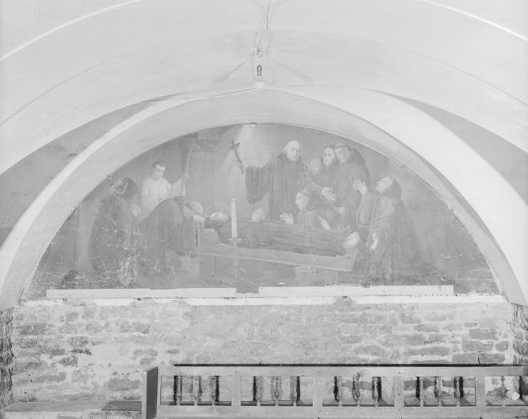 Tableau : la Mort de saint Lothain
