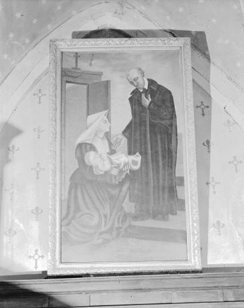 Tableau : Saint Vincent de Paul recueillant un enfant