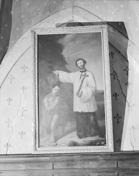 Tableau : Saint François Xavier baptisant un Indien
