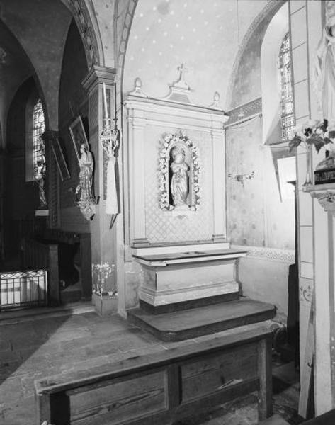 2 autels, 2 retables (autels secondaires de la Vierge et de saint Laurent)