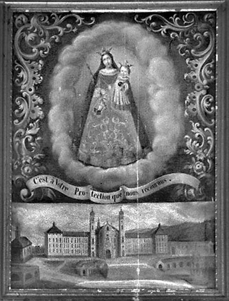 tableau : Vierge à l'Enfant dite Vierge d'Einsiedeln