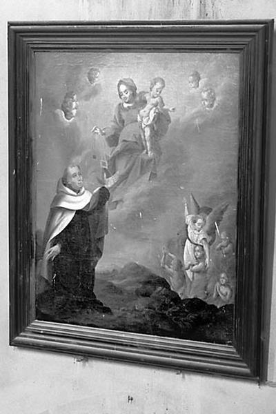 tableau : la Donation du scapulaire à saint Simon Stock