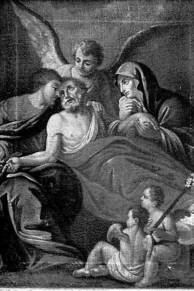 Tableau : la Mort de saint Joseph