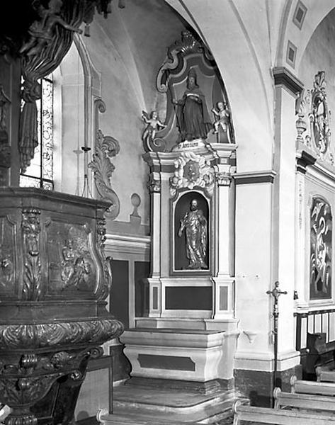 Autel, gradin d'autel, retable (autel secondaire gauche)