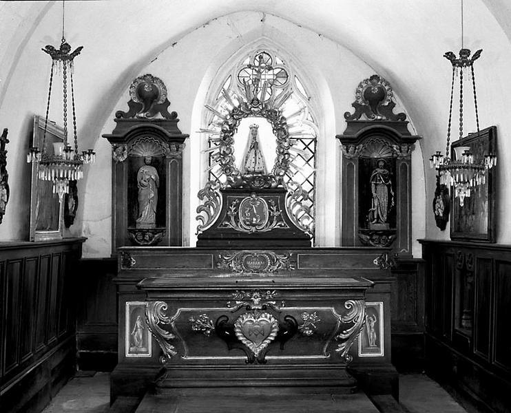 Autel, gradin d'autel (ensemble du maître-autel)
