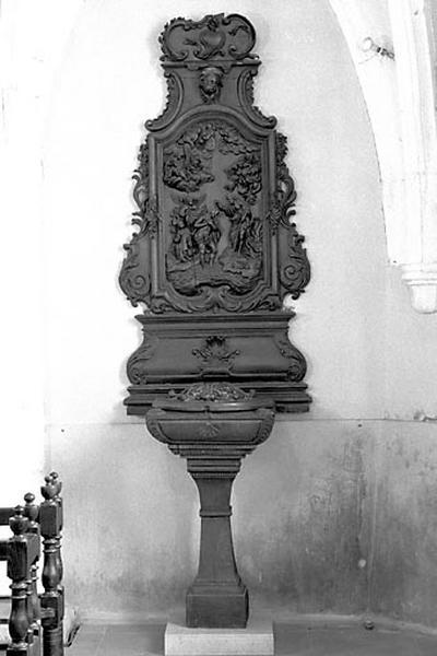 Fonts baptismaux, retable des fonts baptismaux