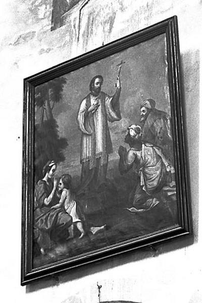 Tableau : Saint François Xavier prêchant