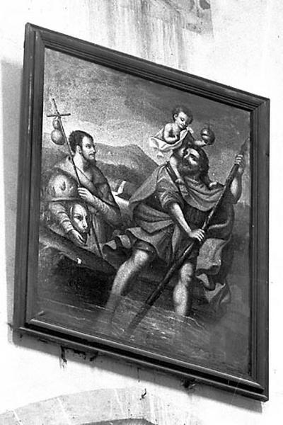 tableau : Saint Roch, saint Christophe et l'Enfant Jésus