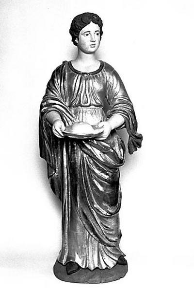2 statues : sainte Agathe et sainte