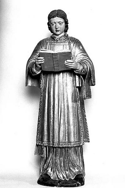 2 statues : saint François Xavier et saint Vallier (?)