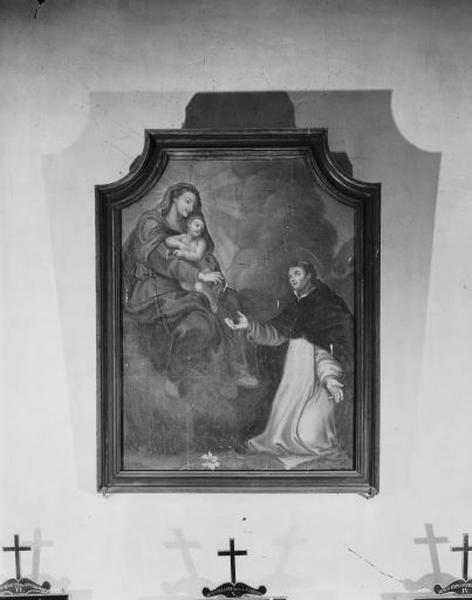 Tableau : Saint Dominique recevant le rosaire