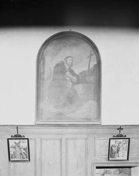 Tableau : moine en prière