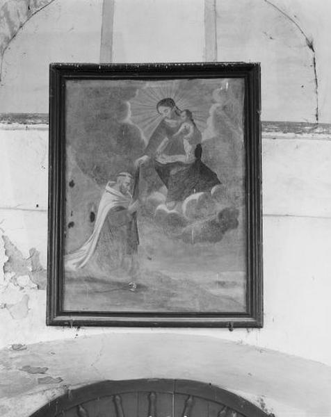 tableau : la Vierge remettant le scapulaire à saint Dominique