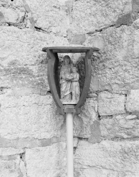 Bâton de procession : l'Education de la Vierge