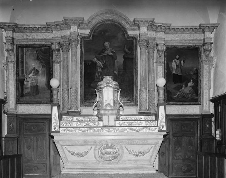 Autel, retable, tabernacle (ensemble du maître-autel)
