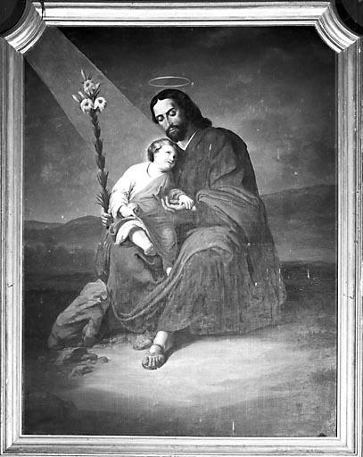 Tableau d'autel : saint Joseph et l'Enfant Jésus