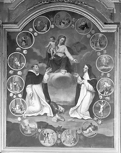 Tableau : la Donation du rosaire