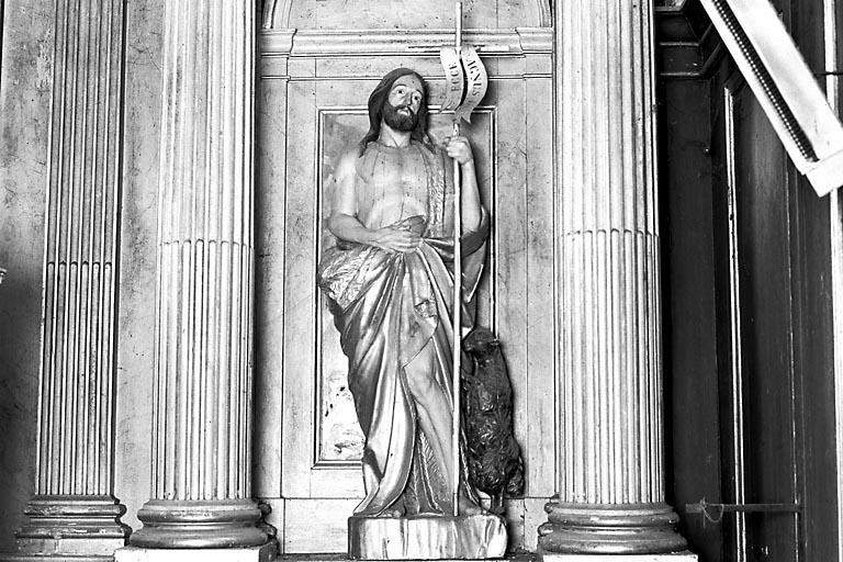 Statue du retable : saint Jean-Baptiste