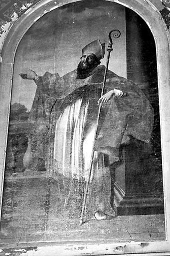 Tableau : saint évêque (saint Kilian ?)