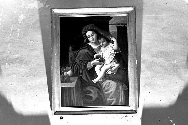 Tableau : Vierge à l'Enfant à la grappe