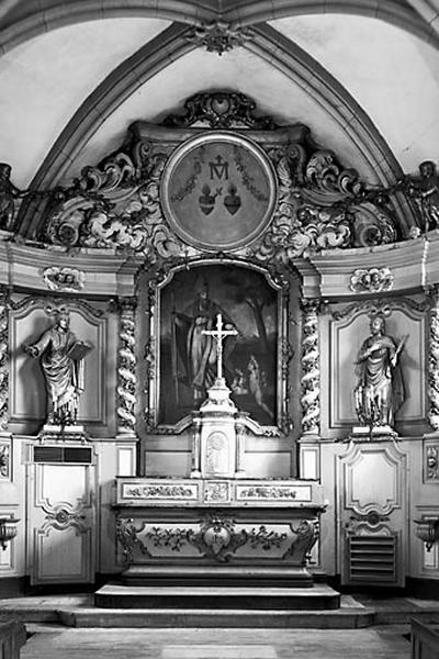 Autel, gradin d'autel, tabernacle, retable (ensemble du maître-autel)