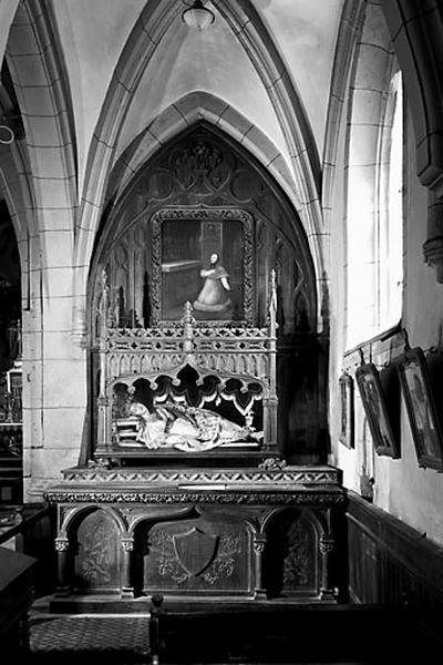 Autel, gradin d'autel, retable (autel secondaire droit)