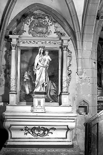 Autel, gradin d'autel, tabernacle, retable (autel secondaire gauche)
