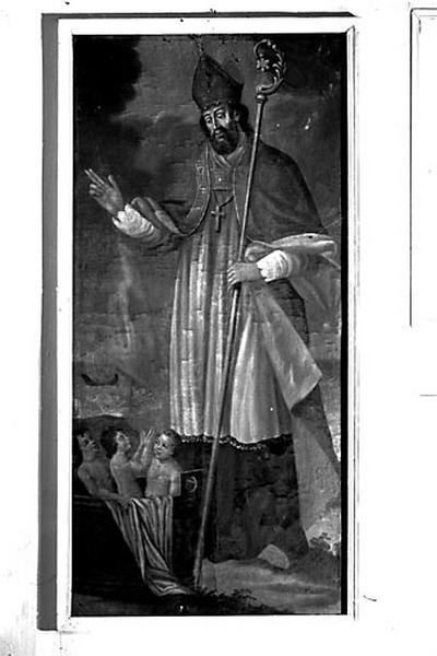 8 tableaux : saint Jean, saint Marc, saint Luc, saint Mathieu, saint Joseph, saint Dominique, saint Nicolas et saint