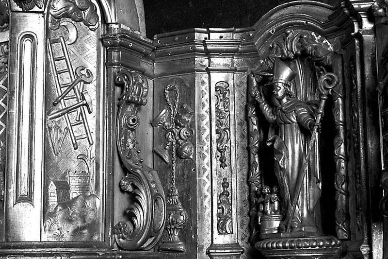 2 statuettes : saint Claude et saint Nicolas